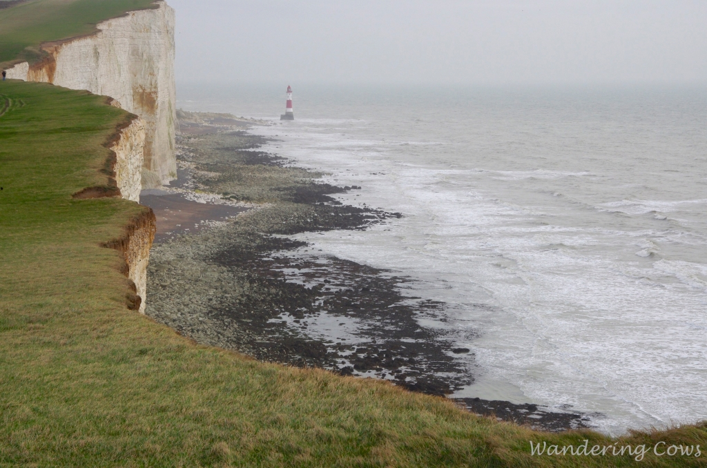 View east to Beachy Head lighthouse